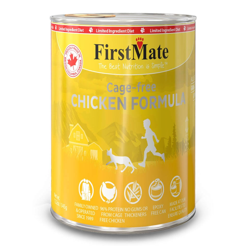 FirstMate Free Run Chicken Formula Limited Ingredient Diet Grain-Free Wet Canned Cat Food, 12.5oz
