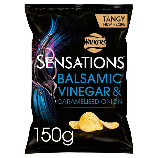 Walkers Sensations Potato Crisps - Caramelised Onion and Balsamic Vinegar, 150g