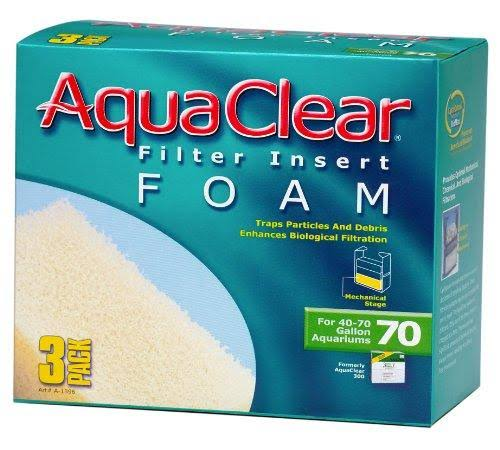 Aquaclear 70-Gallon Foam Inserts - 3 Pack