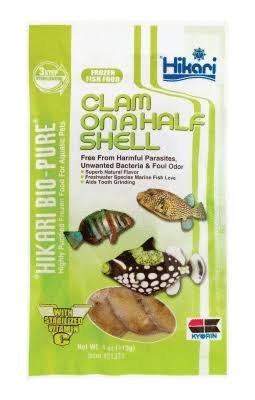 Hikari Bio-Pure Frozen Clam On A Half Shell - 113g