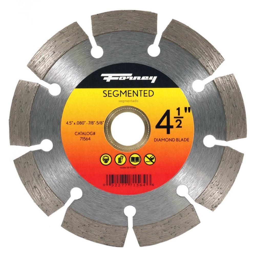 "Forney 71564 Diamond Cut-Off Blade - 5/8-7/8"" Arbor, 4 1/2"""