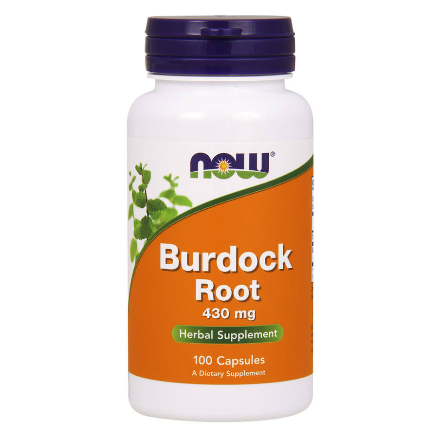 Now Foods Burdock Root Herbal Supplement - 100 Capsules