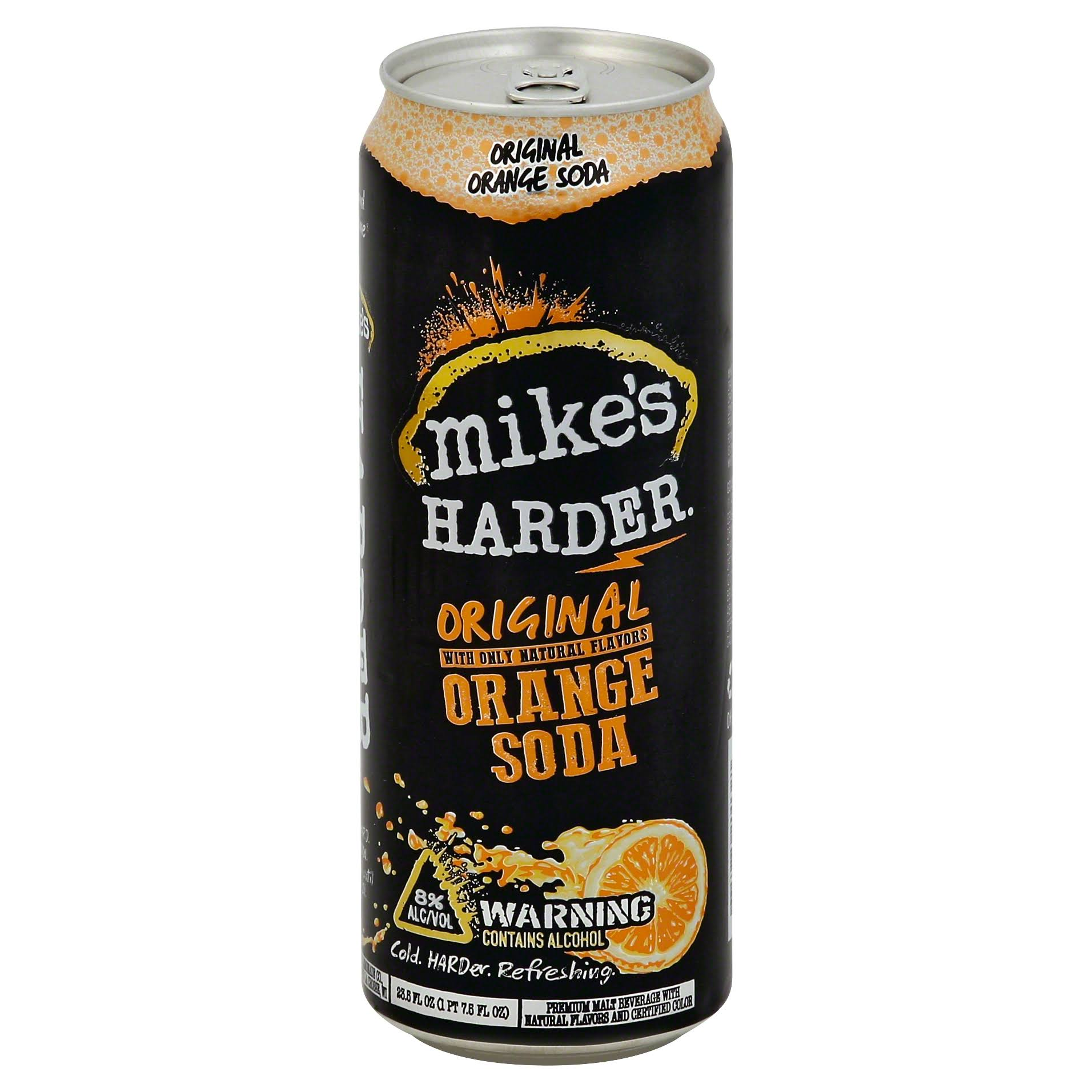 Mikes Harder Malt Beverage, Original Orange Soda - 23.5 fl oz
