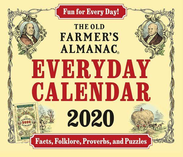 Year-In-A-Box Old Farmers Almanac 2020 Desk Calendar
