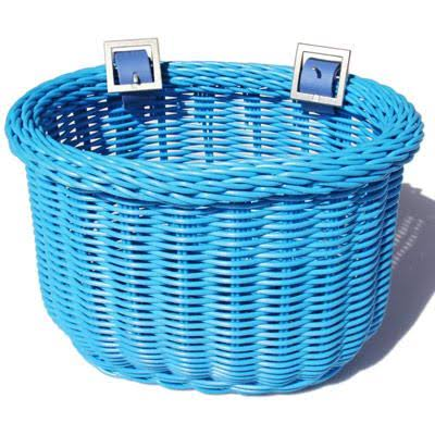 Colorbasket 01259 Kids Front Handlebar Bike Basket - Blue