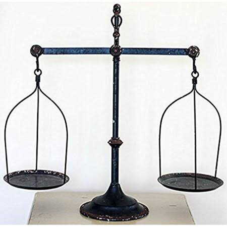 Park Hill ET1264 Decorative Antique Iron Balance Scale Replica