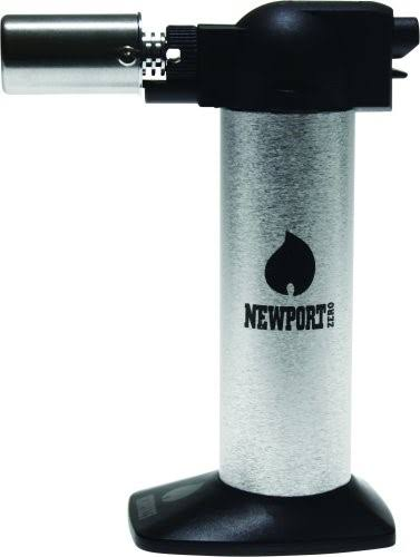 "Newport Zero 6"" Cigar Torch - Silver"