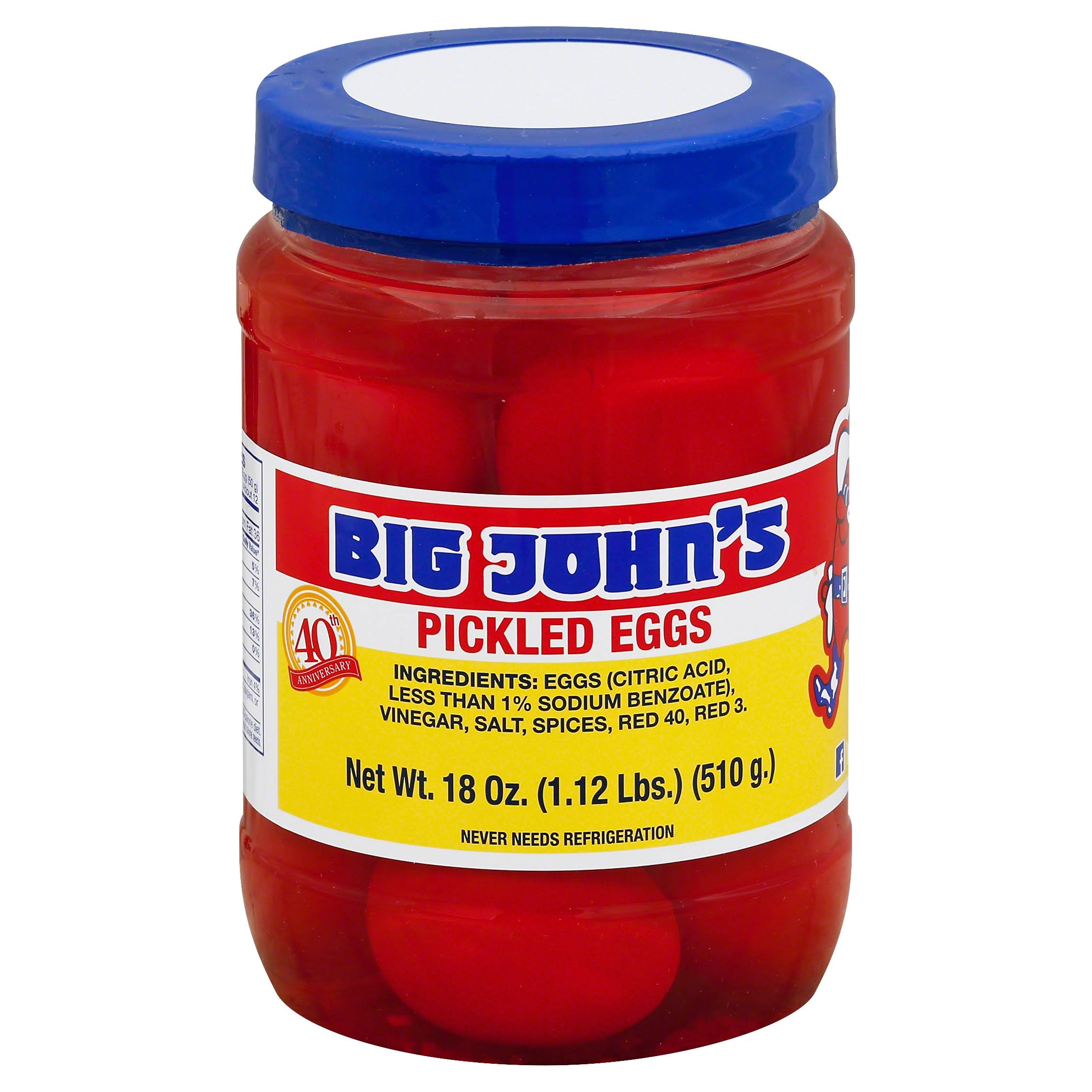 Big Johns Eggs, Pickled - 18 oz