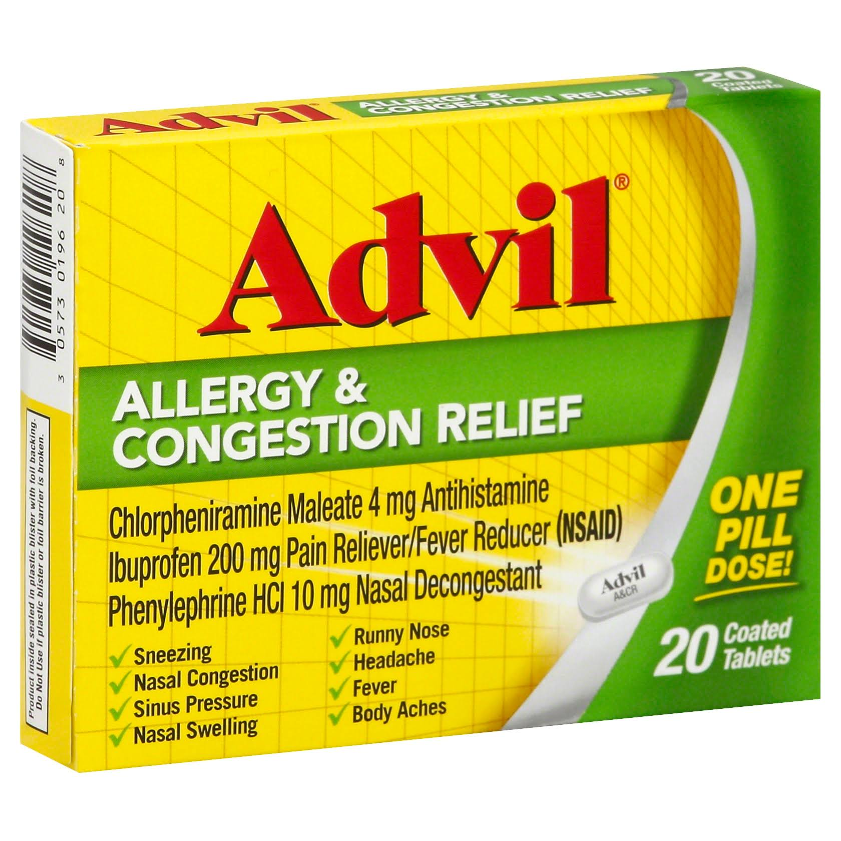 Advil Allergy and Congestion Relief - 20 Tablets
