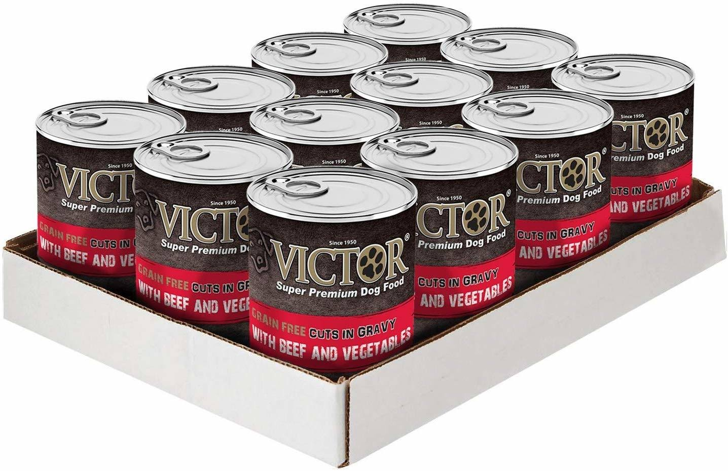 Victor Grain Free Beef & Vegetable in Gravy Canned Dog Food