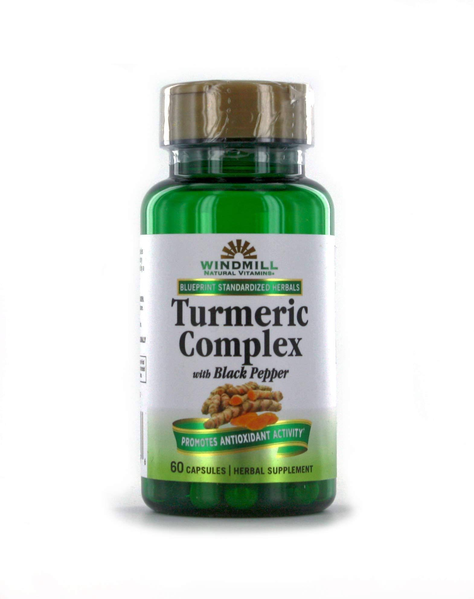 Windmill Turmeric Complex Herbal Supplement Capsules 60 CP