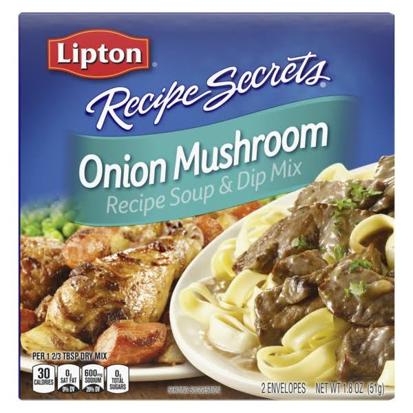 Lipton Recipe Secrets Soup and Dip Mix - Onion Mushroom, 1.8oz