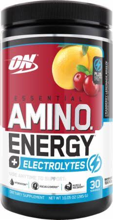 Optimum Nutrition Essential Amino Energy + Electrolytes, Cranberry Lemonade Breeze / 30 Servings