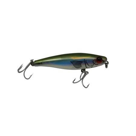 Mirrolure MirrOmullet Surface Walker, Bayou Green Back/Pearl Belly, 3-Inch
