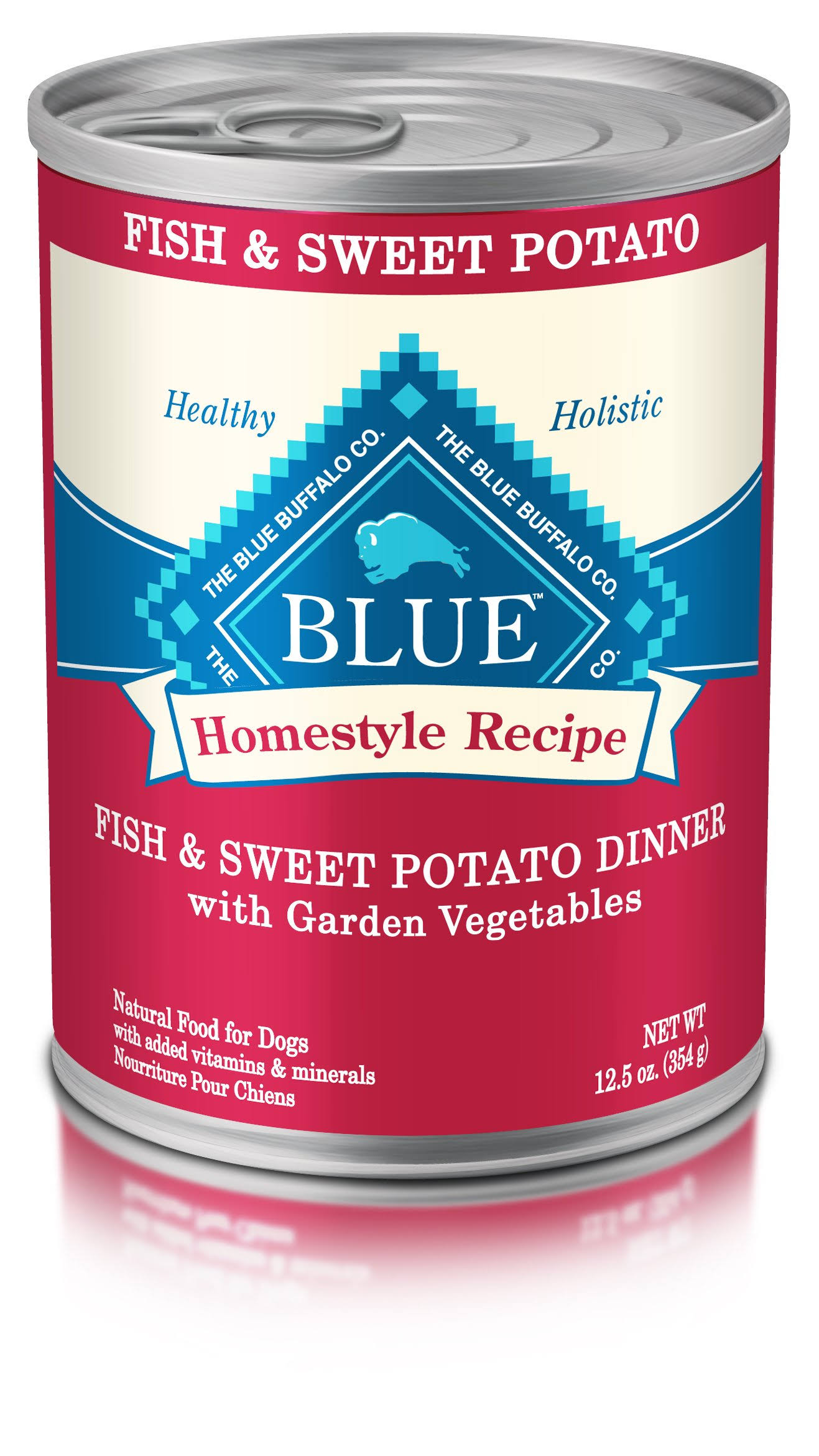 Blue Buffalo Homestyle Recipe Dog Food - Fish and Sweet Potato Dinner
