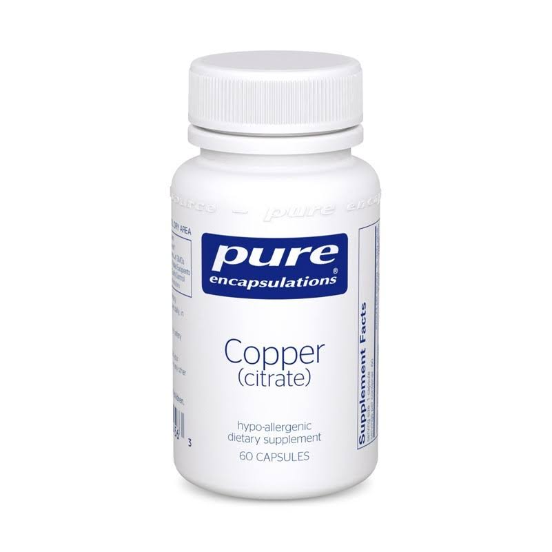 Pure Encapsulations Copper (citrate) 60 Capsules