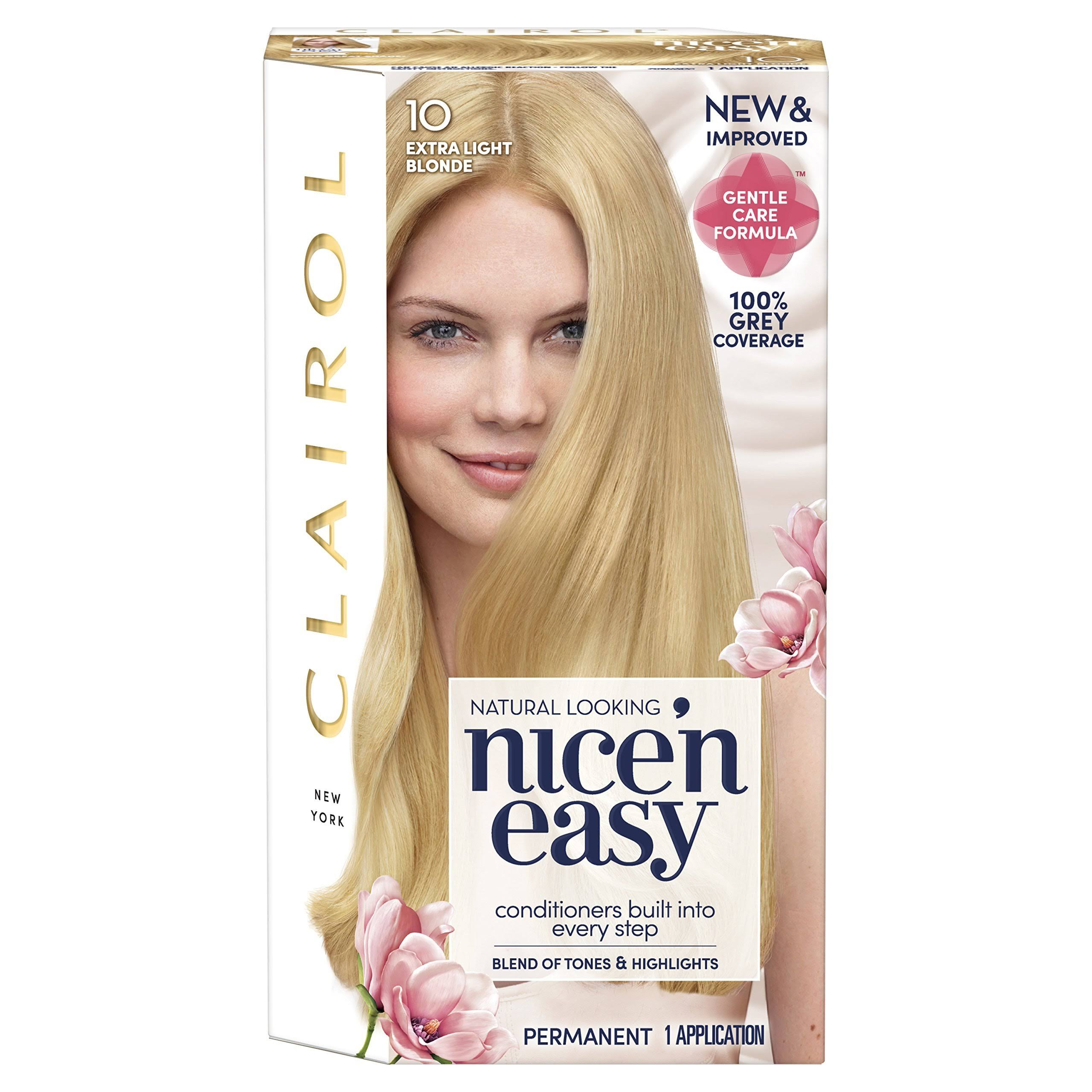 Nice'n Easy Permanent Hair Dye - 10 Extra Light Blonde