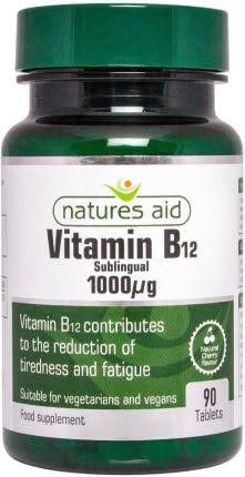 Natures Aid Vitamin B12 - 90 Tablets