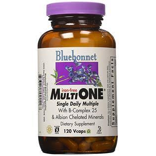 Bluebonnet Multi One Iron Free Dietary Supplement - 120 Capsule