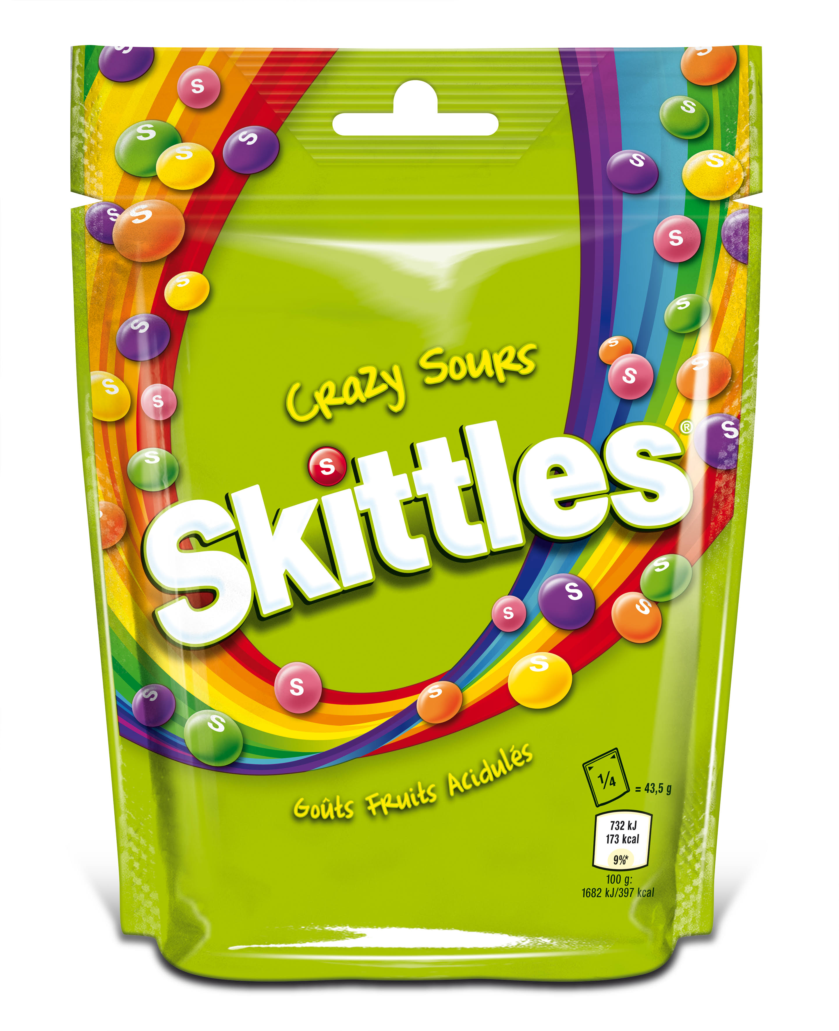 Skittles Crazy Sours Chewy Candies - 174g