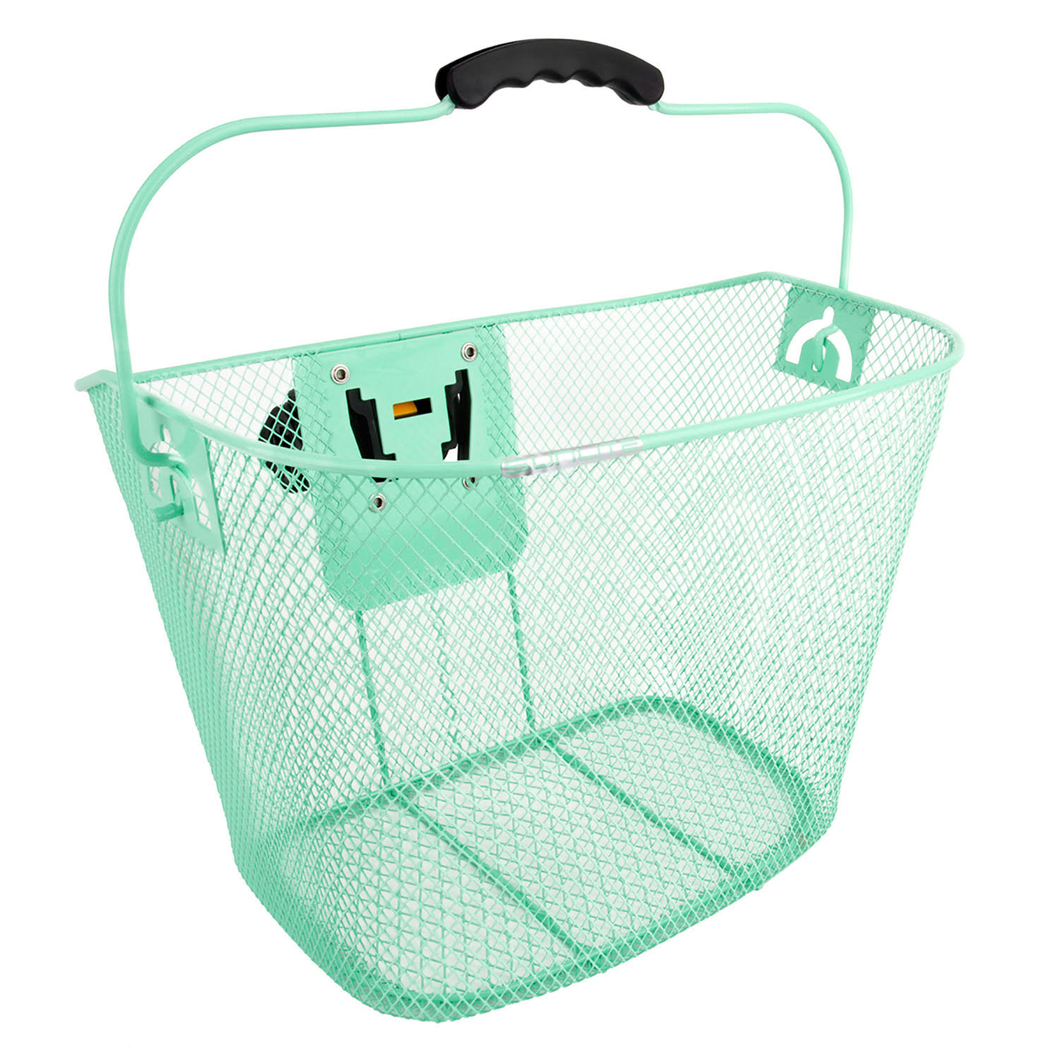 Sunlite Bicycle Basket Front Mesh with Quick Release Bracket - Green