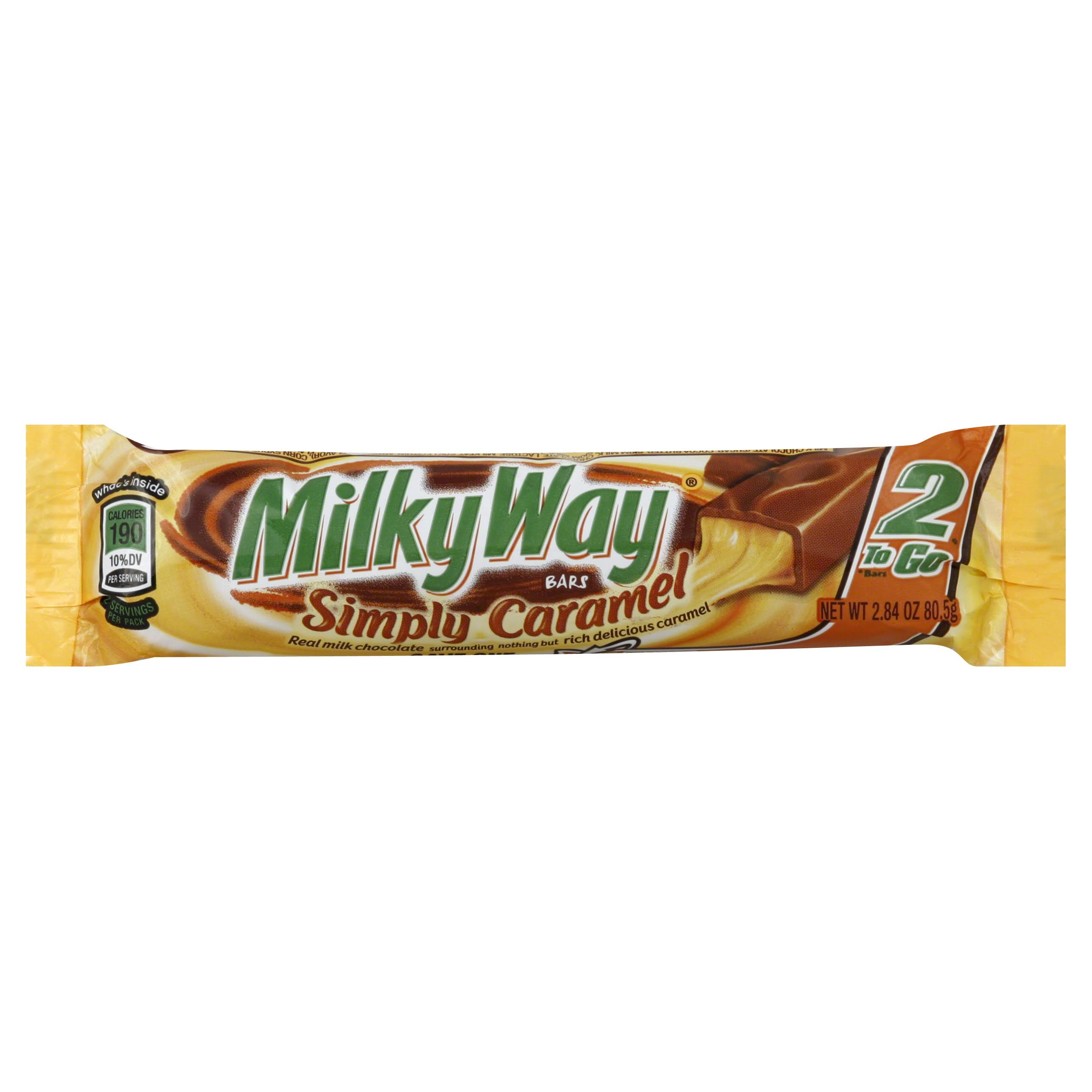 MilkyWay Simply Caramel Bars King Size - 2.84 Oz