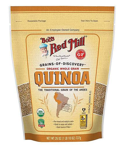 Bobs Red Mill Quinoa, Organic, Whole Grain - 26 oz