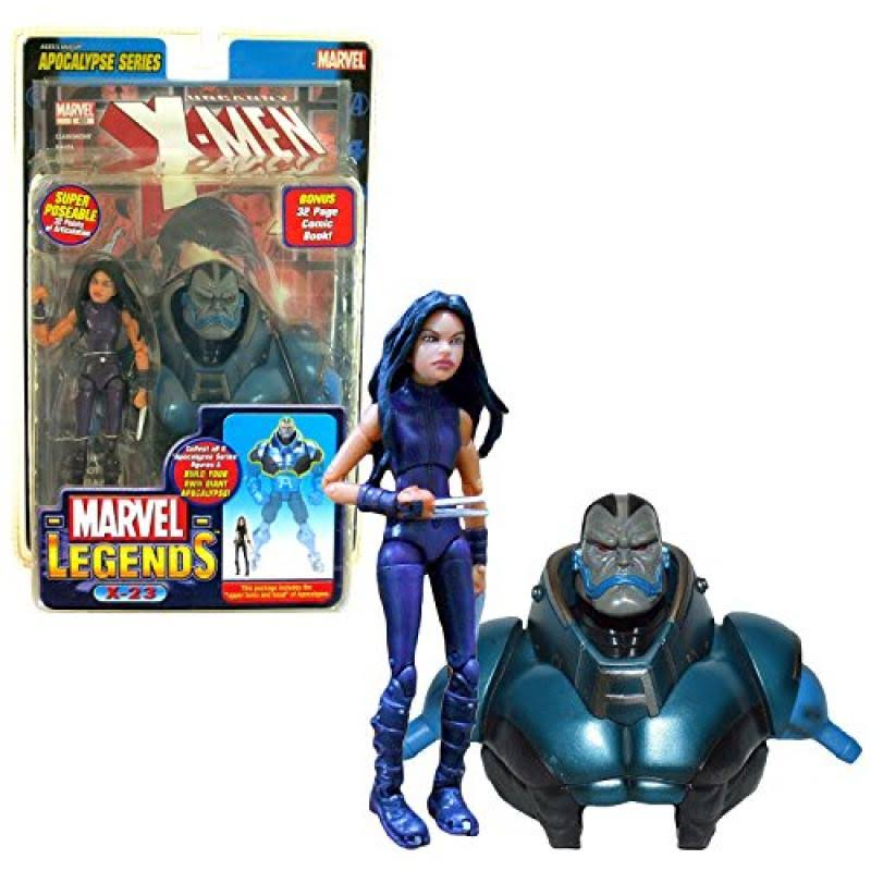 Toybiz Year 2005 Marvel Legends Apocalypse Series 15cm Tall Action Figure - Purple Suit X-23 with 32 Points of Articulation Plus Upper Torso and