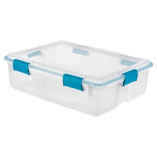 Sterilite 19314304 Gasket Box - Aqua Latch, 37qt