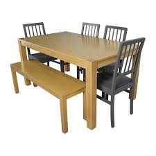 Value City Kitchen Table Sets by 66 Off Macy U0027s U0026 Ikea Round Black Dining Table Set With Four
