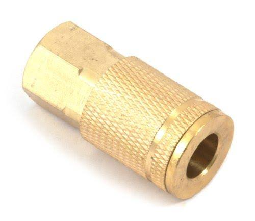 Forney 75222 Tru-Flate Style Air Fitting Coupler with 1/4-Inch-By-1/4-Inch Female NPT