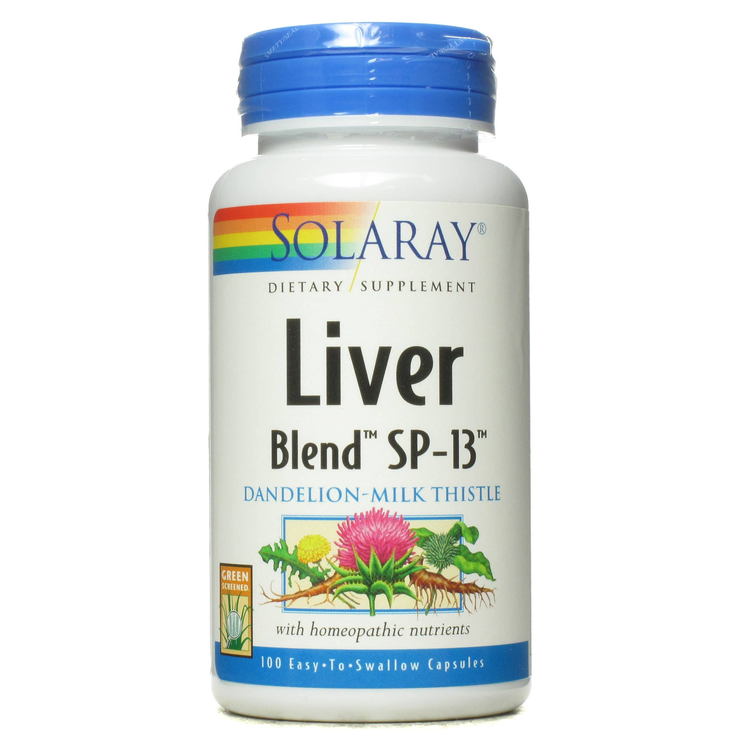 Solaray Liver Blend Sp 13 Dietary Supplement Capsules - 100ct