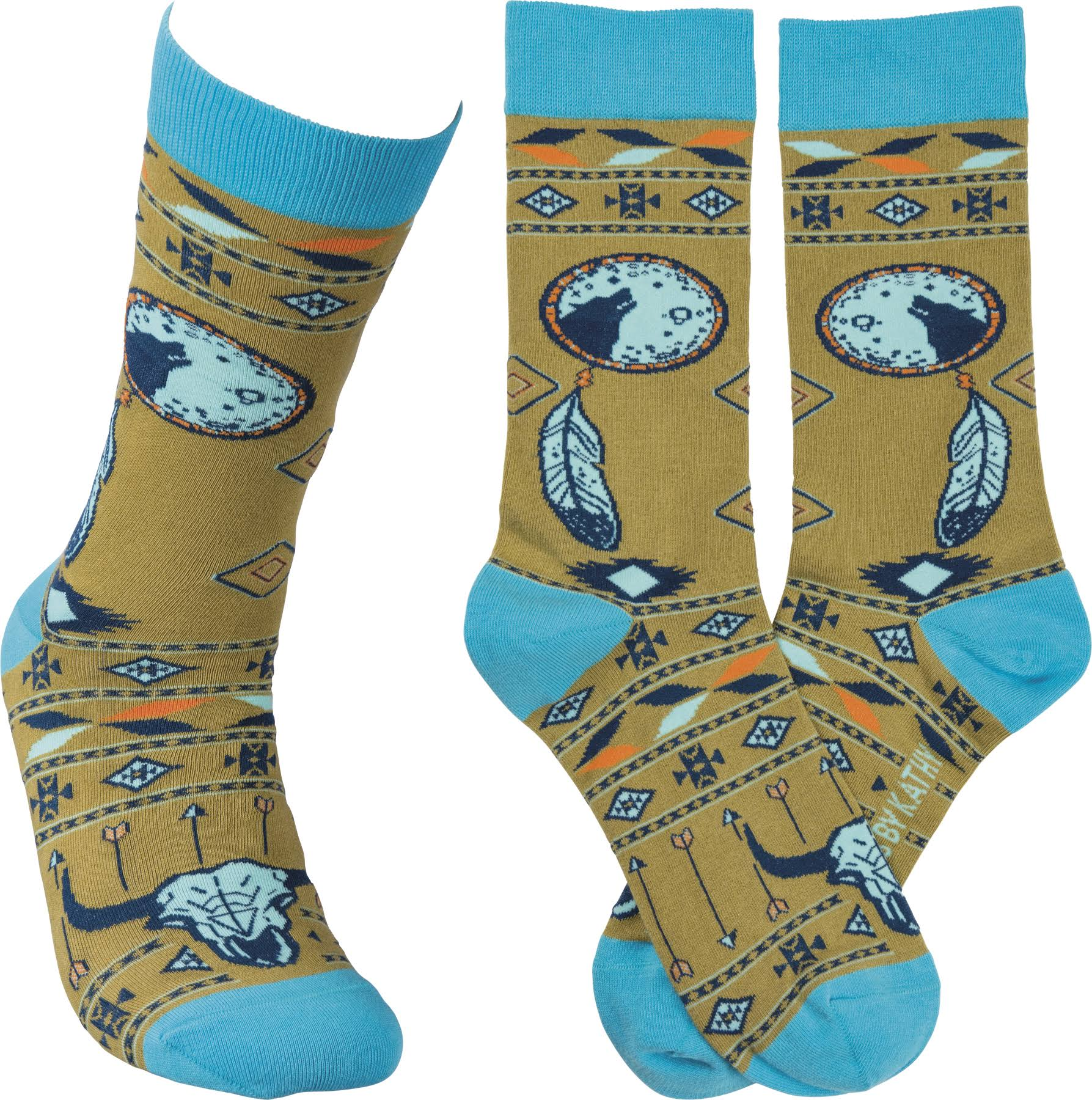 Primitives By Kathy Indian Theme Socks - One Size
