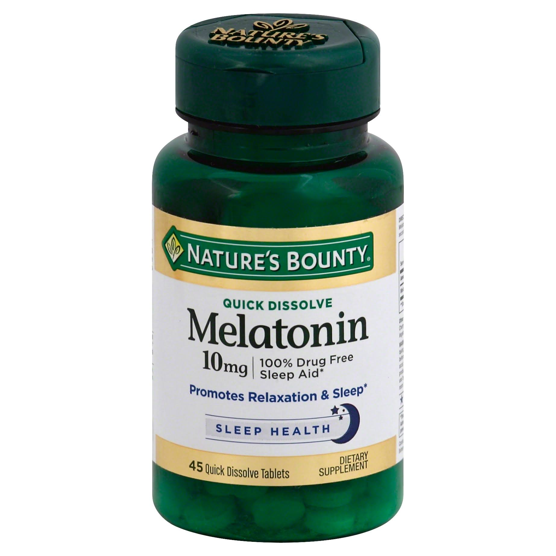 Nature's Bounty Quick Dissolve Melatonin 10mg Tablets