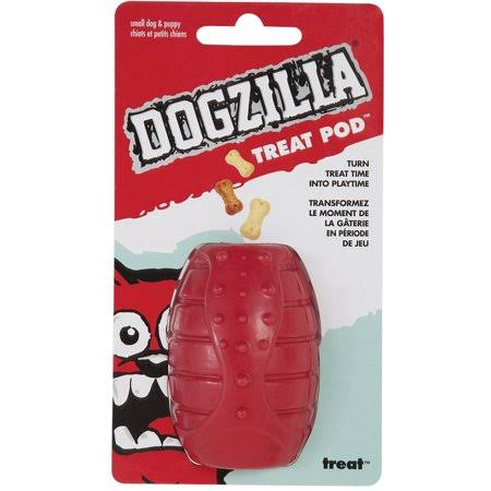 Dogzilla Treat Pod Dog Toy - Small, Red