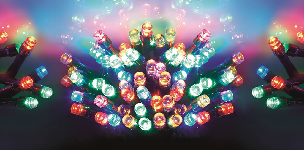 Premier 100 Multi Coloured Multi-Action Battery Operated LED Lights