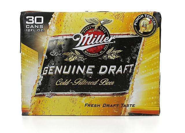 Miller Genuine Draft Beer - 12 oz, 30pk