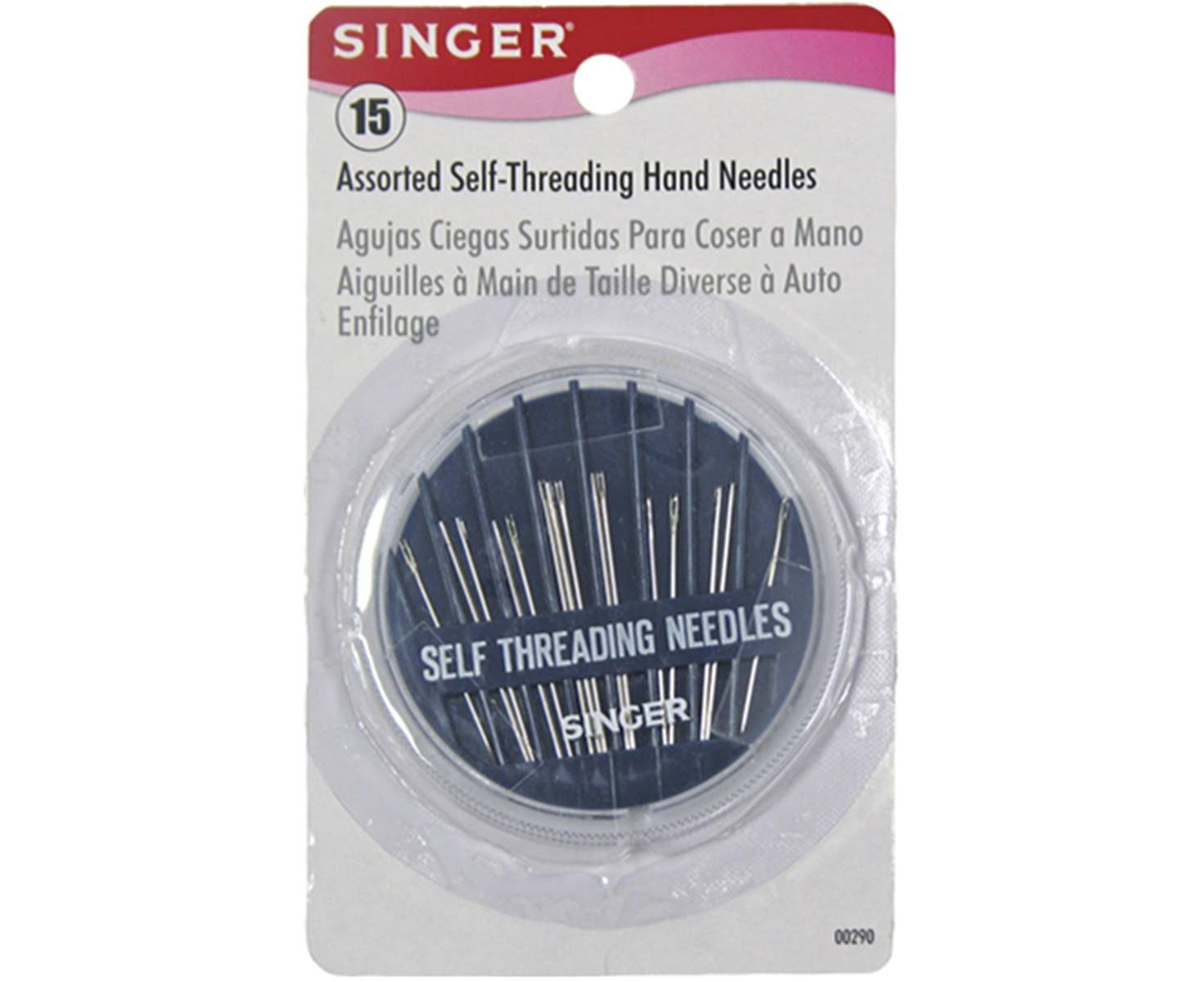 Singer Assorted Self Threading Hand Needles - 15ct