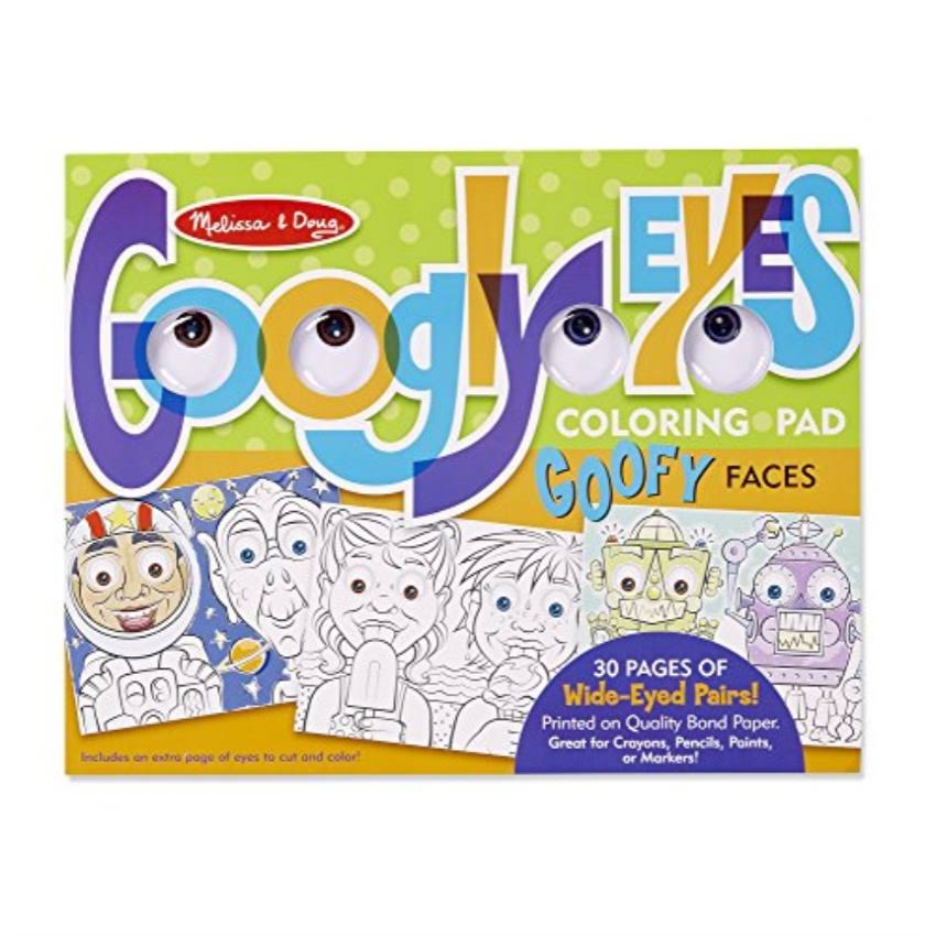 Melissa & Doug Wacky Faces - Googly Eyes Coloring Pad
