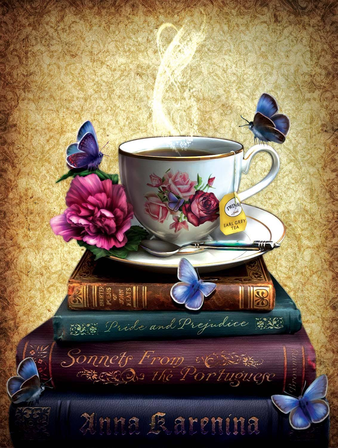 Sunsout Tea and Books Jigsaw Puzzle (500 Pcs)