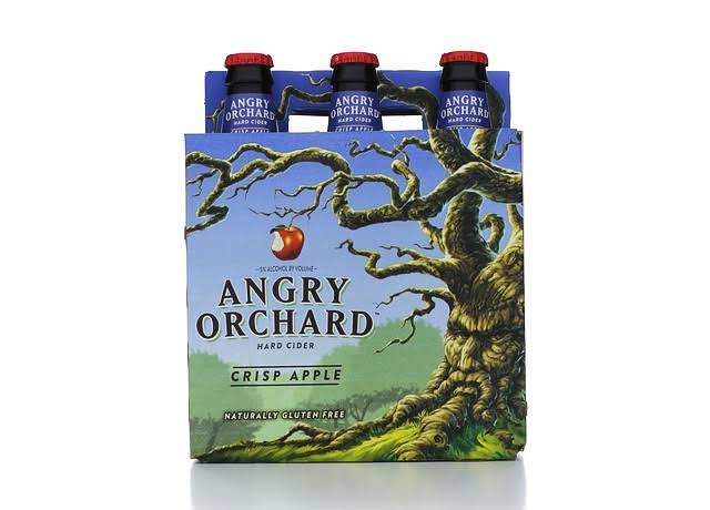 Angry Orchard Hard Cider - Crisp Apple, 6 Pack, 12oz