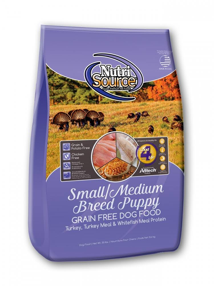 NutriSource Grain Free Small & Medium Breed Puppy 15 lbs | Dog Food