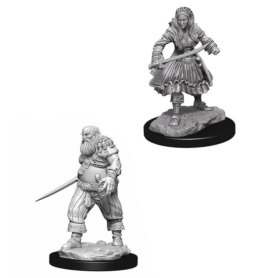Wizkids W4 Roleplaying Game Unpainted Miniatures - Pirates