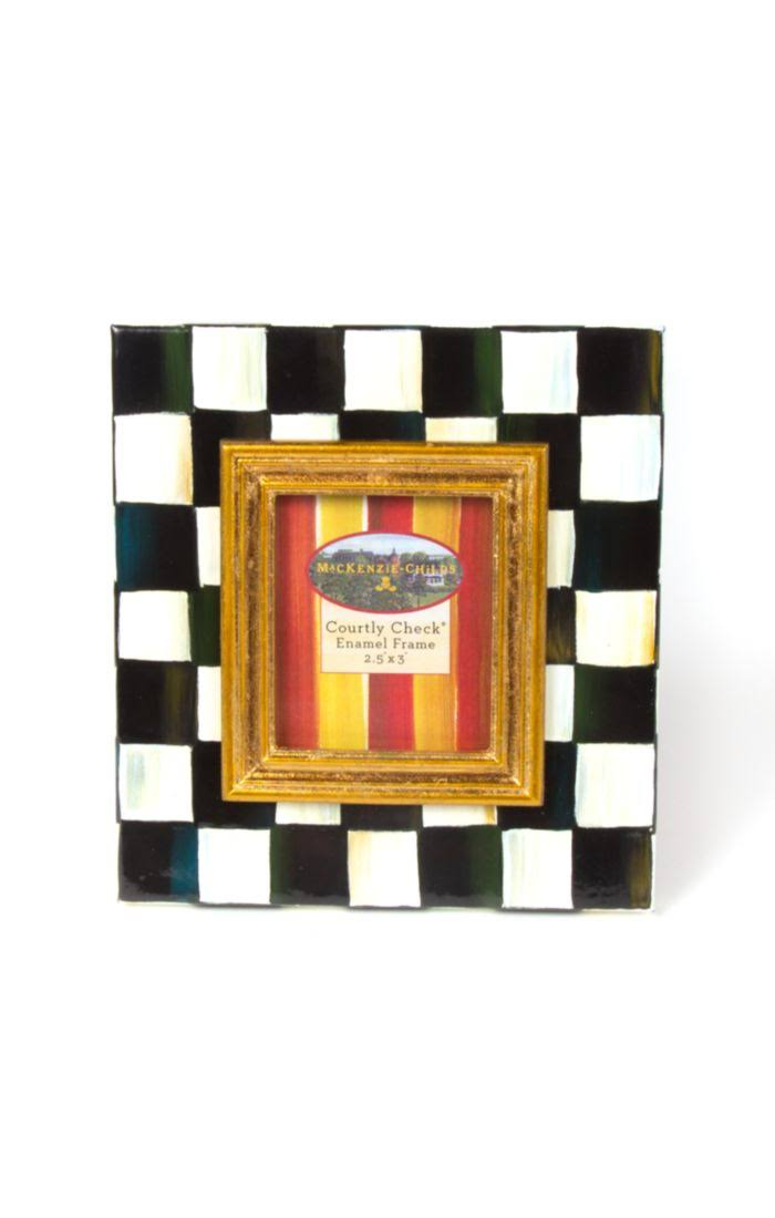 "MacKenzie-Childs Courtly Check Enamel Frame - 2.5"" x 3"""