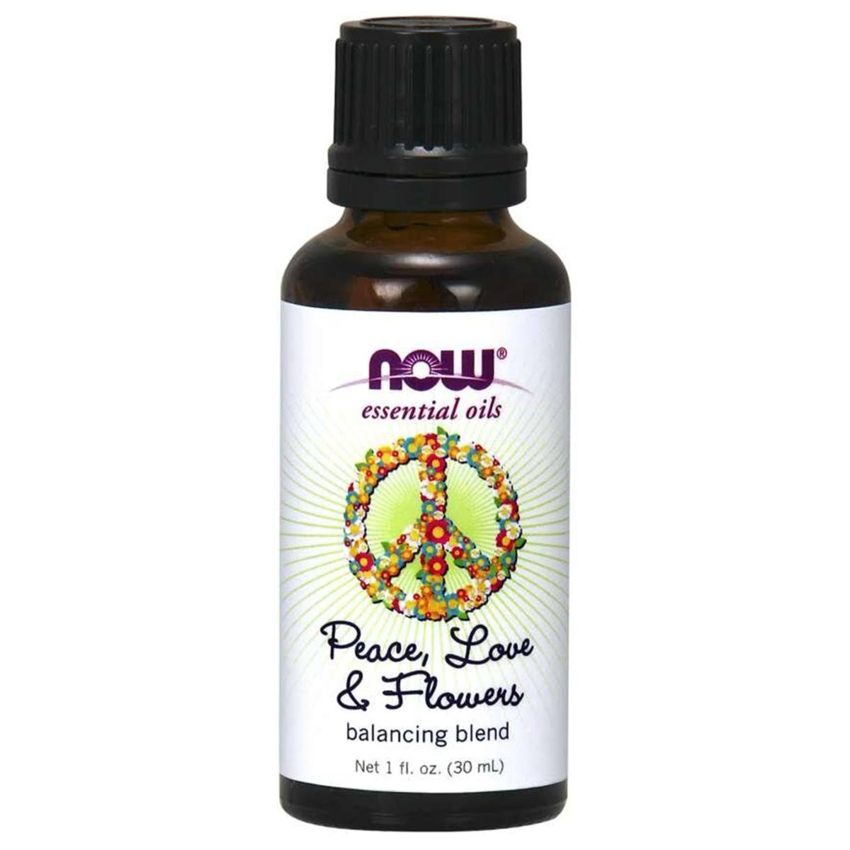 Now Foods Essential Oil Balancing Blend Peace, Love & Flowers - 1oz