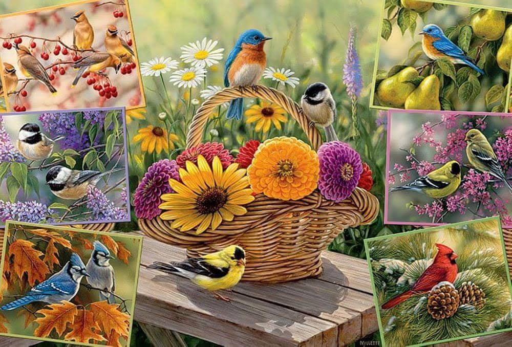 Cobble Hill Rosemary's Birds Jigsaw Puzzle - 2000pc