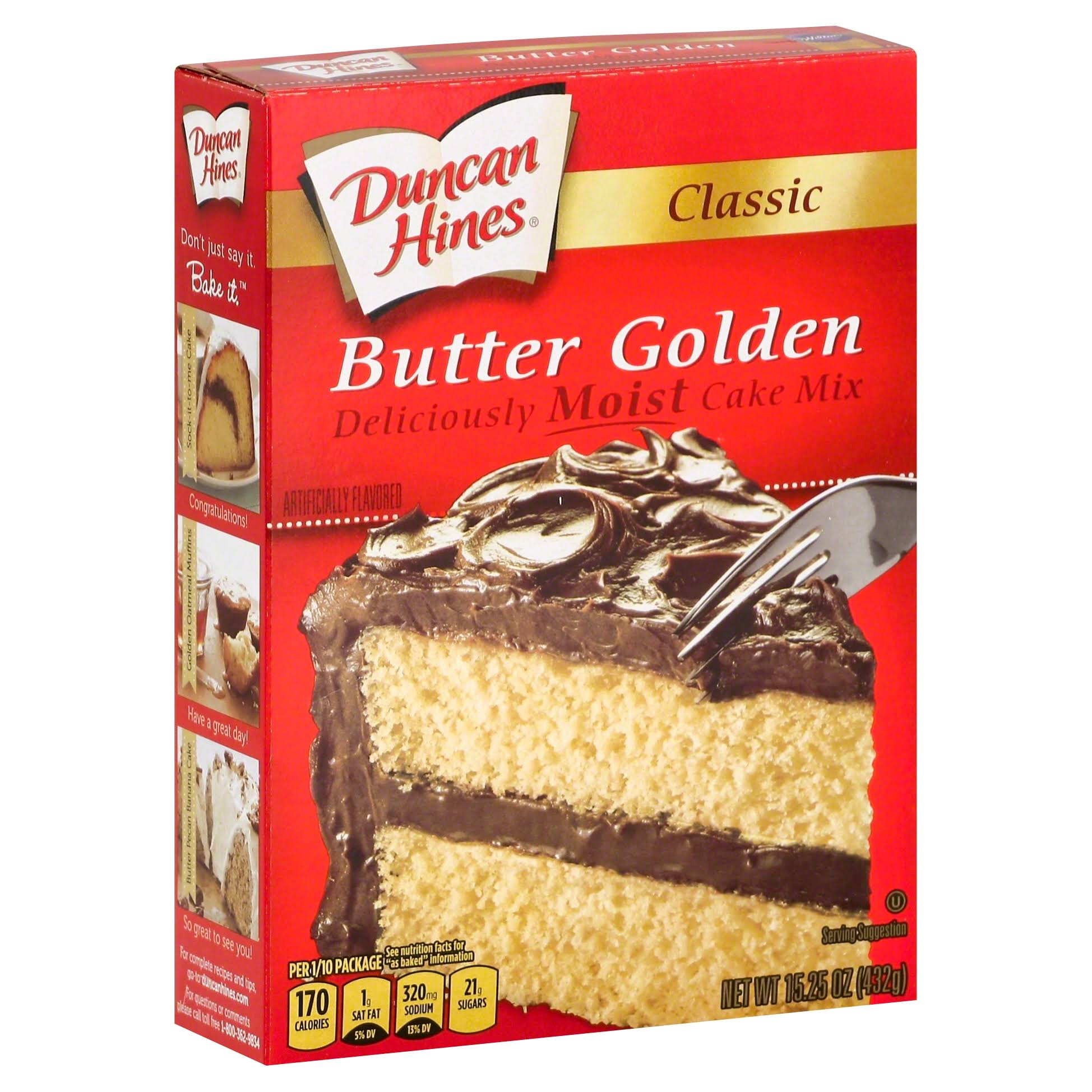 Duncan Hines Classic Butter Golden Cake Mix - 15.25 oz