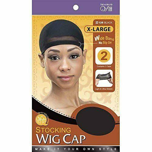 Qfitt Stocking Wig Cap - Black, X-Large