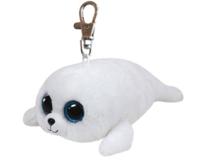 Ty Beanie Boo Icy The Seal Key Clip - 4cm x 4cm x 8cm