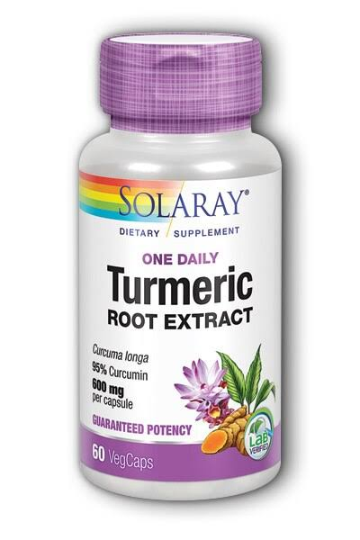 Solaray - Turmeric - One Daily - 60 vegcaps